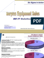 Surplus Equipment Sales Six Sigma Case Study