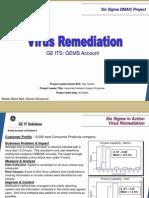 Virus Remediation Six Sigma Case Study