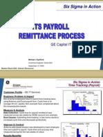 Payroll Remittance Six Sigma Case Study