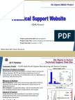 GEAE Tech Support Website Six Sigma Case Study