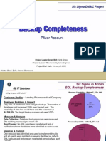 Backup Completeness Six Sigma Case Study