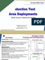 Gage Area Deployment Six Sigma Case Study