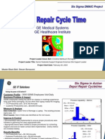 Depot Repair Cycle Time Six Sigma Case Study