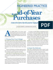 End of Year Purchases - A look at the metrics that drive practices' buying decisions