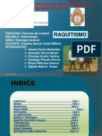 Expo Pato III Unidad Tema Raquitismo