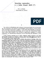 HART, H.L.a. Derechos Naturales. Bentham, y John Stuart Mill