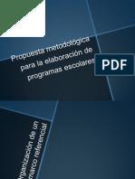 Propuesta metodológica para la elaboración de programas escolares