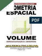 Volume - Exercicios de Aplicacao 02 - Com Respostas