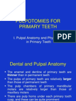 Pulpotomies for Primary Teeth July 2010