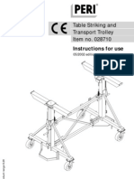 Table Trolley Instructions