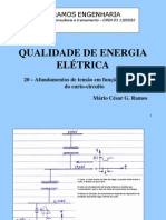 20 - Afundamentosdetensão em função da posição do curto-circuito
