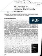 swales discoursecommunity