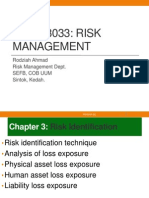 UUM-BWRR3033-Risk Management--CHAPTER 03 Risk Identification