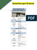 MAS-38 Submachine Gun (France)