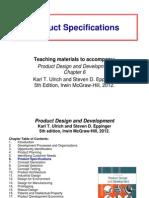6 Product Specifications. perancangan  produk. teknik industri