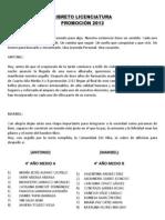 LIBRETO LICENCIATURA PROMOCIÓN 2013