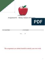 dietary analysis assignment