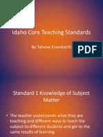 idaho core teaching standards