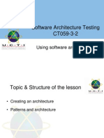 Using Software Architectures