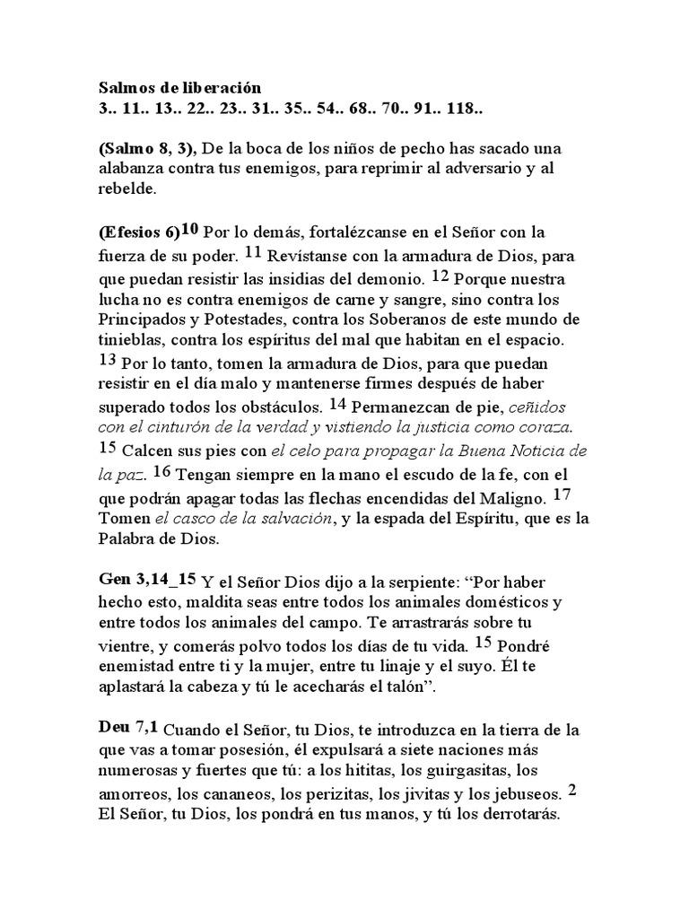 Citas Biblicas De Liberacion Y Demonio Diablo Demonios