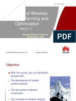 OG 001 Overview of Wireless Network Planning and Optimization ISSUE1.0