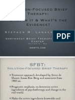 StephenLanger Solution Focused Brief Therapy