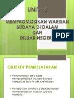 psk - Unit 6 Promosi Warisan Budaya Di Dalam Dan Luar Negara