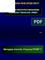 Program Kreativitas Mahasiswa Penerapan Teknologi (PKMT) 2013