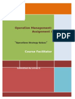 Report on Operations Strategy Galanz