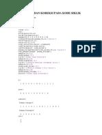 Deteksi Dan Koreksi Pada Kode Siklik