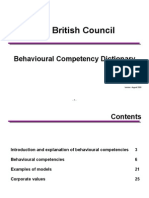 Behavioural Competency Dictionary