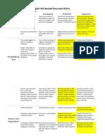 copy of portfolio revised document rubric