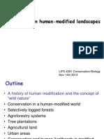 Nov 14 Conservation in Human-modified Landscapes