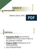 Preterm Rupture of Membranes