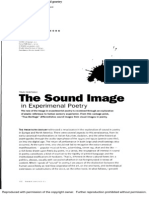 The Sound Image in Experimental Poetry