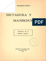 Dictadura y Mansedumbre