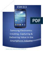 How Samsung Electronics Creates, Captures and Delivers Value in the Smartphone Industry