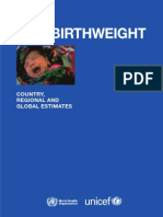 Low Birthweight From EY