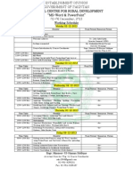 Working Schedule MS Word and PowerPoint Revised