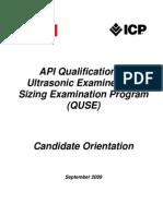 2012 QUSE Sizing Examination CandidateOrientation
