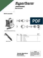 Hypertherm Powermax 190C Plasma Hand Torch Parts