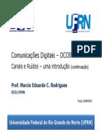 DCO0010 Canais e Ruidos 2
