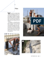 Drainage - Installing Sheet Piles