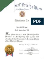 vfw certificate of appreciation