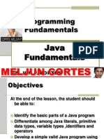 MELJUN CORTES Java Programming Fundamentals