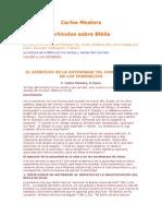 Mesters, Carlos - Articulos Sobre La Biblia