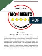 Programma Cittadini Di Bracciano in MoVimento  Prot. n. 30062 Del 15 Ottobre 2013