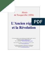Tocqueville-L'Ancien Régime et la révolution