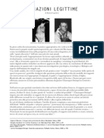 Mattia Capelletti, Filiazioni legittime (2013)