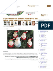 Como fazer um enfeite Papai Noel em feltro para sua árvore de natal _ Vila do Artesão